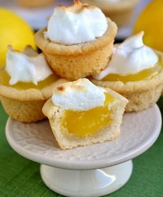 Lemon Meringue Cookie Cups - (I'd top with a little whipped cream. Not a meringue fan.)