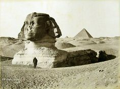 Sbah, The Great Sphinx at Giza looking southwest Museum of Fine Arts, Boston. Ancient Egyptian Art, Ancient Aliens, Ancient History, Egyptian Kings, Giza Egypt, Pyramids Egypt, Sphinx, Old Egypt, Archaeological Discoveries