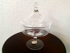 Vintage Princess House Crystal Candy Dish by ZiLvintage on Etsy, $9.99