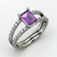 kind of wouldn't mind having an amethyst engagement ring. this cut reminds me of a necklace my great grandmother gave me when I was little.