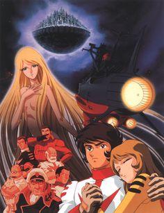 Yamato Manga Anime, Anime Release, Battle Of The Planets, Captain Harlock, Starship Concept, 70s Tv Shows, Star Blazers, 80 Cartoons, Japanese Cartoon