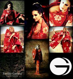 """""""Freddy Gaviria is a Colombian designer known for his evening gowns and specially for his Japanese coats. Japanese Coat, Alexander Mcqueen Scarf, Evening Gowns, Barcelona, Workshop, Unique, How To Make, Handmade, Design"""