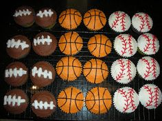 So Happy Together...: Sports-Themed Cupcakes