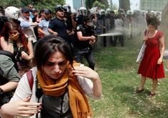 protest against the destruction of trees in Taksim Square, Istanbul.  Osman Orsal