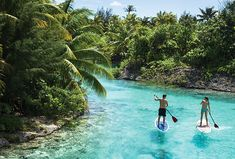 Wow, this is my idea of heaven. Stand up paddle boarding in Bora Bora. Via @Four Seasons Hotels and Resorts Bora Bora.