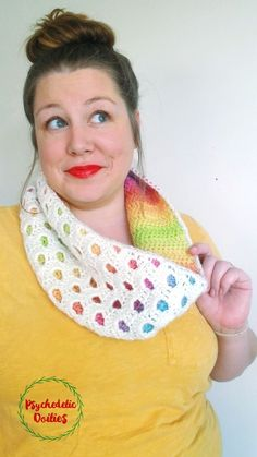 crochet scarves I am delighted to finally release the Peek-a-Boo Cowl crochet pattern! This cozy cowl may be my favorite design to date. I originally created it a year ago but never pu Crochet Scarves, Crochet Shawl, Crochet Hooks, Free Crochet, Knit Crochet, Crochet Granny, Unique Crochet, Crochet Hook Sizes, Crochet Clothes