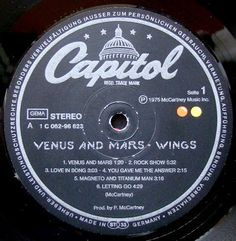 Vinylmania: Paul McCartney Venus And Mars, Paul Mccartney, Give It To Me, Songs, Song Books, Music