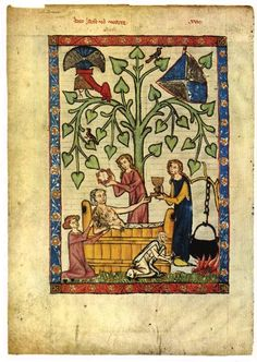 Bathtime The bulk of the Manesse Codex paintings were produced between 1300 and 1315. Twenty-seven of the miniatures were painted around 1330 by supplementary artists.