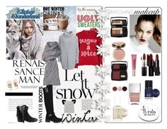 """""""Let it snow!"""" by oliverab ❤ liked on Polyvore featuring Topshop, MANGO, Qupid, Hunkydory, UGG Australia, Isotoner, Eugenia Kim, Essie, Lancôme and LVX"""