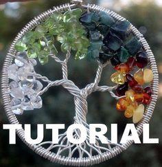 Tutorial árbol de la vida colgante del Ethora por ethora en Etsy
