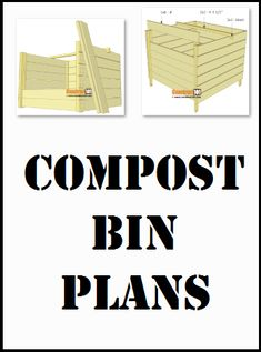 Compost bin plans, free PDF download, includes how-to step-by-step instructions, drawings, measurements, shopping list and cutting list. Step By Step Instructions, Compost, Homesteading, Pdf, How To Plan, Drawings, Free, Shopping, Sketches