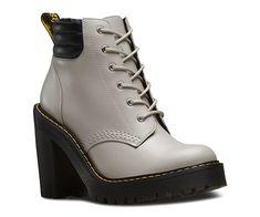 499ac604ddee Martens Women s Persephone 6 Eye Padded Collar Boot Soft Grey Buttero Size  8 M