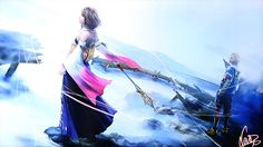 View an image titled 'FFX HD Remaster Promo Art' in our Final Fantasy X art gallery featuring official character designs, concept art, and promo pictures. Final Fantasy X, Final Fantasy Collection, Final Fantasy Artwork, Final Fantasy Characters, Fantasy Series, Yuna Cosplay, Tidus And Yuna, Fanart, Fantasy Pictures