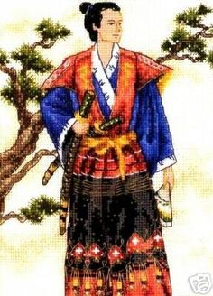 Dimensions Gold Counted #crossstitch  The Samurai #DIY #crafts #decor #needlework #crossstitching #gift