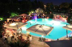 Wedding pool party at Villa Fiorita