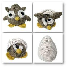 Owl in an egg