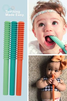 Baby Teething Tubes are specifically designed for providing controlled pressure on the gums to soothe teething irritation. Baby On The Way, Our Baby, Baby Momma, Baby Boy, Baby Gadgets, Bitty Baby, Everything Baby, Baby Needs, Happy Baby