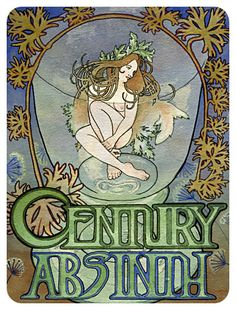 Rebecca L. Macaulay - Art Nouveau Absinthe Poster in the Style of Mucha, 2009