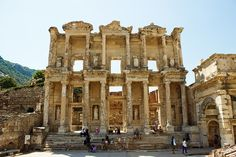 #LIBRARY OF CELSUS,  #Turkey. The library of Celsus is an ancient Roman building in Ephesus, Anatolia, now part of Selçuk, Turkey. Call us: +91-9873259943 www.e-visaindia.com