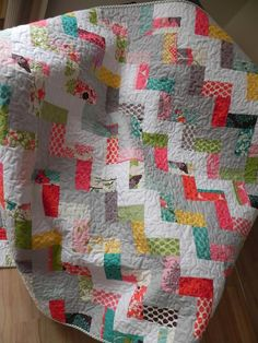 This quilt is simple to make and perfect for a beginner