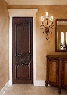 Home front door design photos main for new models grill brown interior doors dark vs black Traditional Interior Doors, Brown Interior Doors, Custom Interior Doors, Brown Doors, Home Interior, Interior Design, Simple Interior, Luxury Interior, White Doors