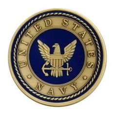 US Navy Bronze Medallion Enameled