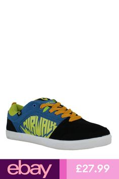 AirWalk Chadwick Mens Black   Blue Casual Skate Lace Up Padded Shoes  Trainers 4486e84a5457