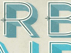 beautiful inline letters! dribbble shot by Kelli Anderson (she rocks!)