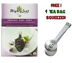 Mighty Leaf Tea  Organic Black Earl Grey with FREE Tea Bag Squeezer 1 Pack *** Want additional info? Click on the image.