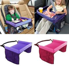 The Kids Portable Snack & Play Travel Tray provides a sturdy surface for travel treats and toys. Perfect for your on-the-go family, this tray is designed to