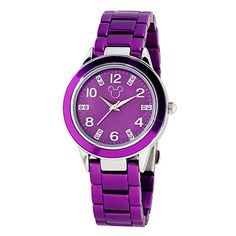 Disney Parks Mickey Mouse Icon Watch for Adults Purple New