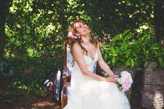 Cute pic. http://flyawaybride.com/boho-wedding-in-asturias-spain/ By The Love Forest #Dress #Asturias #Wedding #Boho #Outdoor  Photography: F2studio | Ceremony Venue: Castiello de Selorio | Wedding Dress: YolanCris
