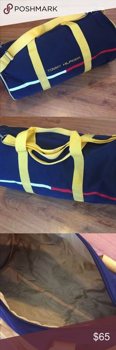 Tommy Hilfiger duffle Vintage Tommy Hilfiger duffle bag I'm selling I recently got another one, very spacey Tommy Hilfiger Bags