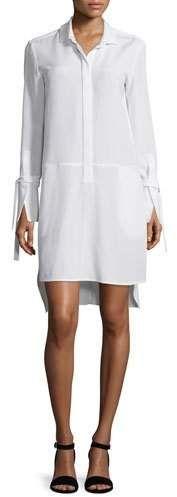 Lace Cocktail Dress by Tadashi Shoji. sheer yoke and sleeves. measurements: back; Poplin Dress, Eyelet Dress, Shirtdress, Anniversary Outfit, Boat Neck Dress, Halston Heritage, Sheath Dress, White Dress, Dresses For Work