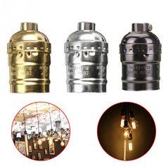 新しいe27アルミレトロアンティークヴィンテージledライトランプ電球ホルダーソケットフィッティングシェードランプ拠点