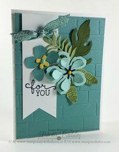 Botanical Blooms Stamps and Botanical Builder Framelits Dies Pretty Cards, Cute Cards, Tarjetas Stampin Up, Stamping Up Cards, Metal Stamping, Card Sketches, Flower Cards, Greeting Cards Handmade, Scrapbook Cards