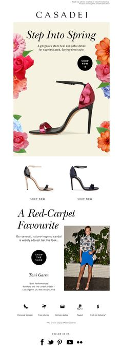 #newsletter Casadei 03.2015 The Tulip Has Bloomed