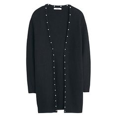 0469378fcf8f Buy Mango Textured Cotton Cardigan, Black Online at johnlewis.com