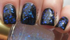 L'Oreal The Holographic Top Coat Holographic Top, Nail Polish Collection, Dark Colors, Loreal, My Nails, Swatch, Nail Art, Topcoat, Beauty