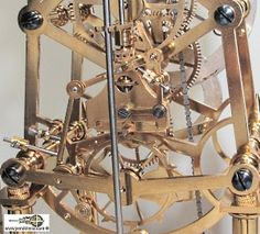 Skeletonized clock with detent escapement