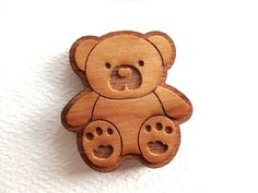 10 Laser cut wooden teddy bears by AllThisWood on Etsy, $6.50