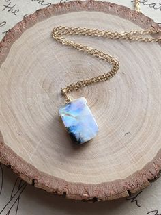 Rainbow Moonstone Necklace  Moonstone by CatchingWildflowers
