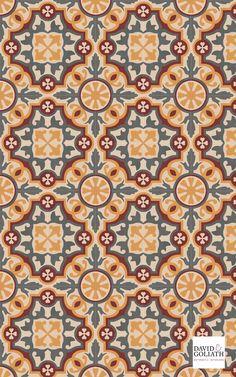 David & Goliath cement tile Antoine 20x20cm Textile Pattern Design, Baroque Pattern, Textile Patterns, Pattern Art, Graphic Patterns, Cool Patterns, Print Patterns, Boarder Designs, Arabesque Pattern