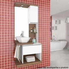 Gabinete para Banheiro com Espelheira Paris Celta Móveis (Não Acompanha Cuba e torneira) Nogal Sevilha/Branco    https://www.madeiramadeira.com.br/moveis/moveis-para-banheiro/conjuntos-para-banheiro?page=2