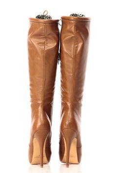 Tan Faux Leather Knee High Lace Up Platform Boots @ Cicihot Boots Catalog:women's winter boots,leather thigh high boots,black platform knee high boots,over the knee boots,Go Go boots,cowgirl boots,gladiator boots,womens dress boots,skirt boots.