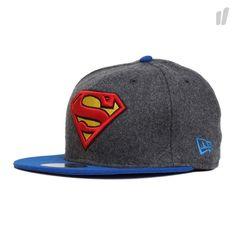 New Era 59Fifty Superman Hero Melton Cap - http://www.overkillshop.com/de/product_info/info/11460/