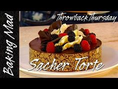 Here's my own version of the classic Sacher Torte! Recipe below! Ingredients: 3 X discs of pre-made sponge cakes A handful of fresh raspberries soaked i. Party Desserts, Dessert Party, Party Recipes, Eric Lanlard, Raspberry Torte, Torte Recipe, Sponge Cake, Birthday Cake, Yummy Food