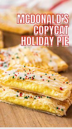 Holiday Pies, Christmas Desserts, Christmas Baking, Holiday Recipes, Copykat Recipes, Pie Recipes, Dessert Recipes, Cooking Recipes, Just Desserts