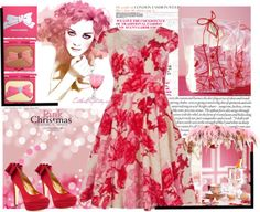 """""""Pink Christmas"""" by likepolyfathion ❤ liked on Polyvore"""