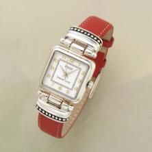 Elegantly detailed, this classic beaded watch makes a lovely impression.